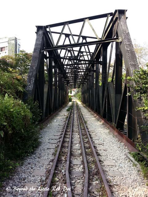The bridge over Bukit Timah Road.
