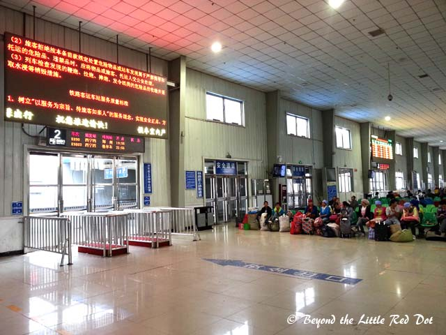 Cuurently, the train station in Xining is operating in a temporary building until the new train station is completed sometime later this year.