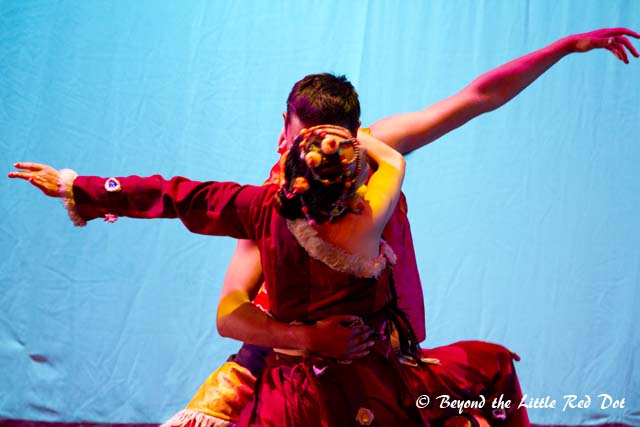 The performances were mostly about the Tibetan way of life.
