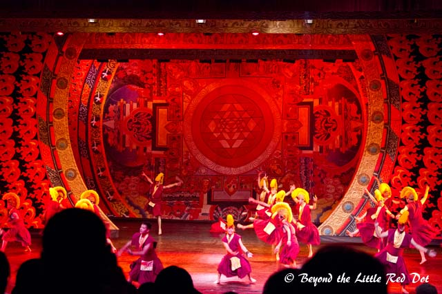 The stage was quite well done with moving sets and interchangeable backdrops.
