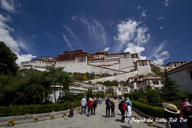 Getting to see Potala Palace in all its grandeur.