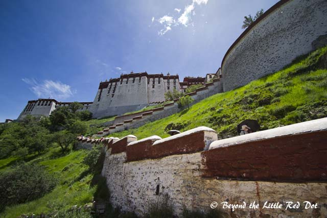 After visiting the monastery, we exit through the back of the palace.
