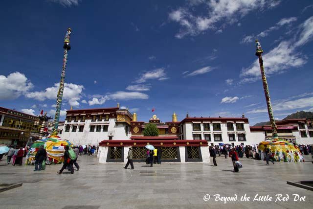 The front of Jokhang Temple.