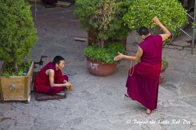 Monks having their spiritual debate.