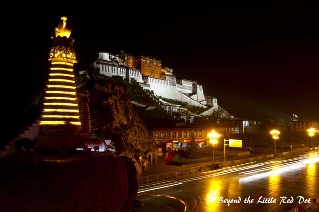 There is small hill which you can take photos from. There is an entrance fee of RMB2 to gain entry to the hill.