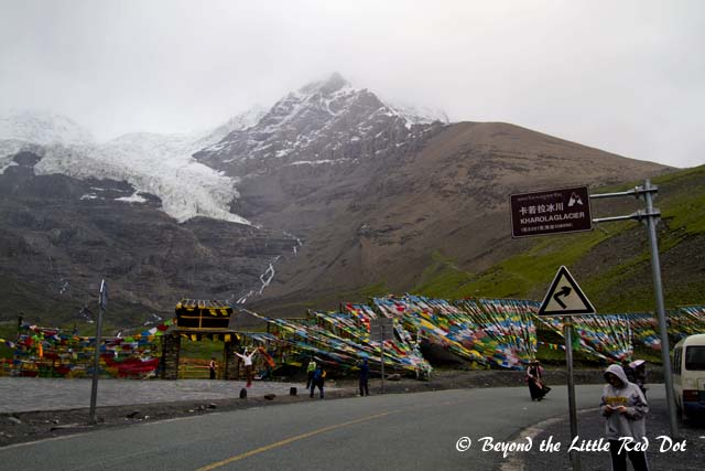Kharola Glacier which is at nearly 5,000m above sea level.