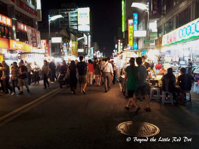 The main street of Liuhe  night market. Mostly packed with tourists from China and Japan.