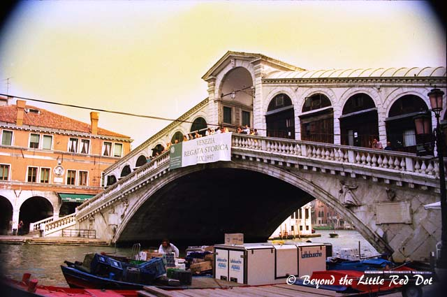 The famous Rialto Bridge.