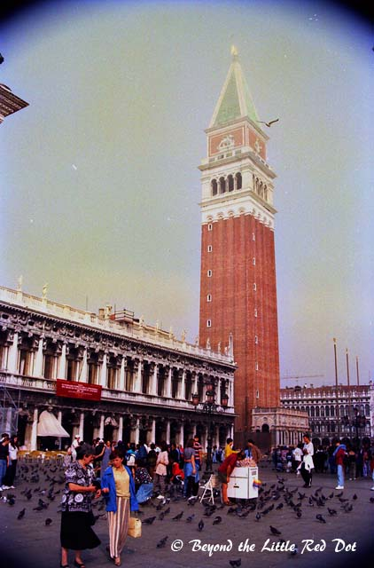 The bell tower of St Mark. You can go up for a view of Venice.