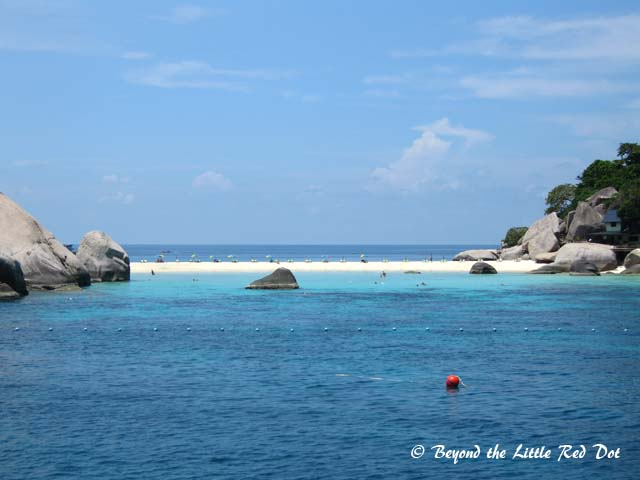One of the idyllic beach scenes on Koh Nang Yuan.