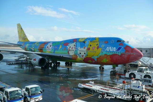 A kawaii Pokémon plane at New Chitose Airport.