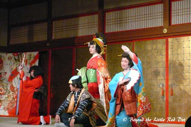 We were treated to performances by actors. But sadly we couldn't understand any of it, since it was all in Japanese.