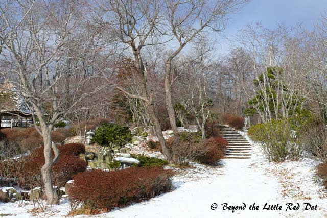 A lovely winter scene near the samurai theme park.