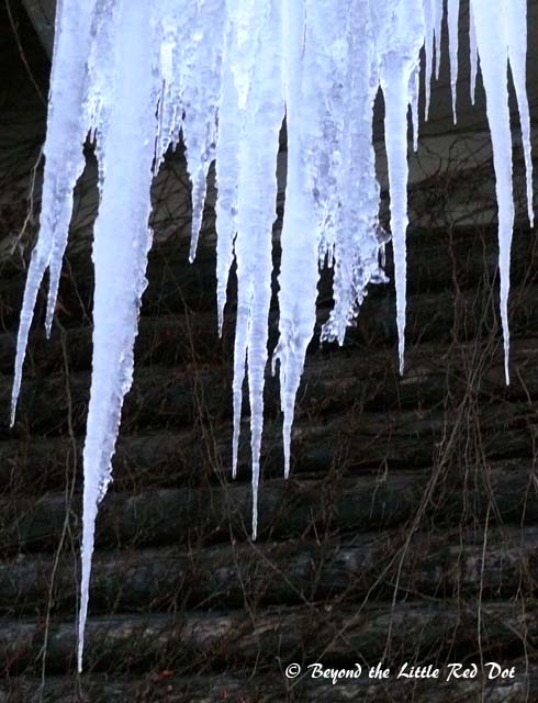 Temperatures are always below freezing and icicles form everywhere there is water dripping.