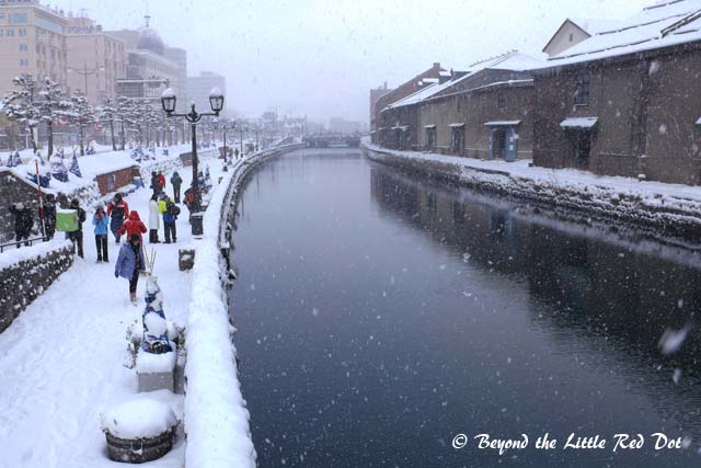 The canal area of Otaru with its vintage architecture.