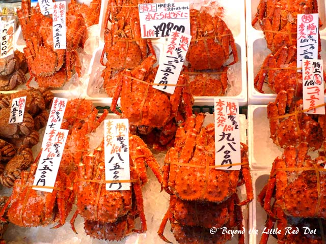 Crabs for sale too.