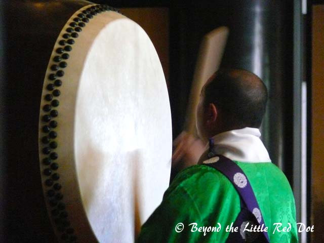 A priest on the drum.