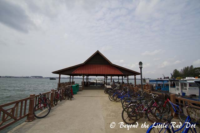 The jetty at Pulau Ubin.