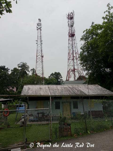 The most prominent structure on Pulau Ubin is the costal radar and radio towers.