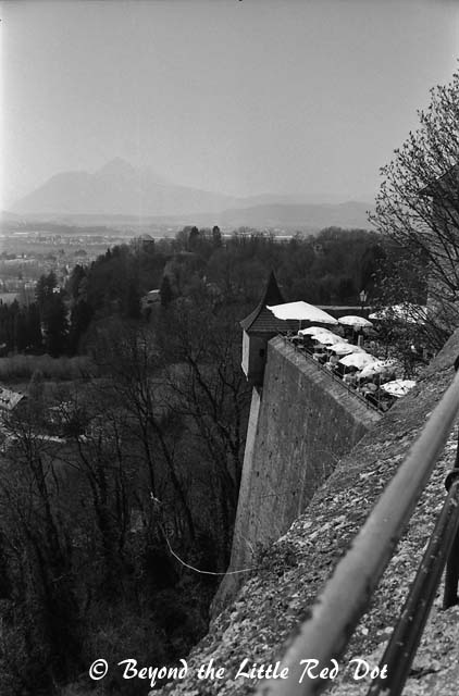 Stunning views of the city, surrounding countryside and the Alps.