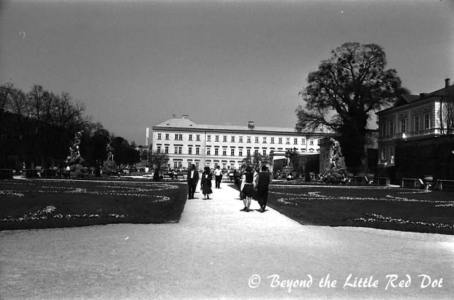 Mirabell Palace which is famous for its gardens.