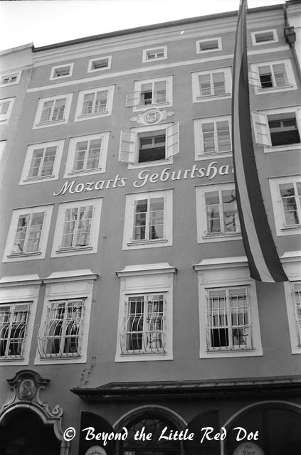 The house that Mozart was born in. You have to pay to enter. I didn't bother to go in.