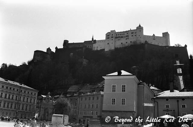 The imposing Hohensalzburg castle overlooks the city.