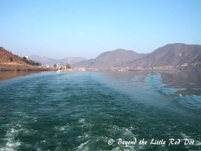 Taking the ferry to Nami Island and leaving Chuncheon dock behind.