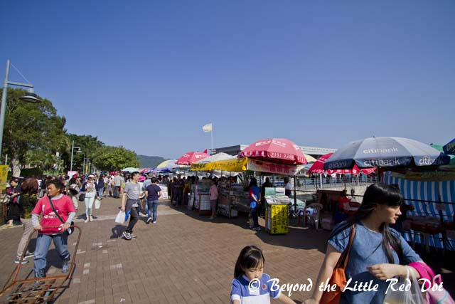 The seafront of Sai Kung. We visited on a weekend and it was crowded, but not like what you see in Hong Kong.
