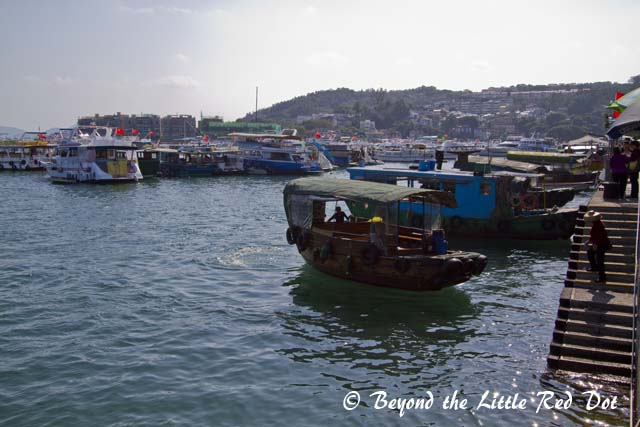 Lots of boats for fishing and cruising. In the distance you can see the luxury seafront facing homes.