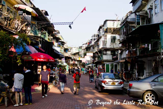 A short street filled with many small traditional shops and newly opened bistros.