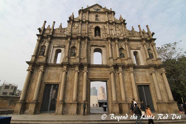 The ruins of St. Paul's is synonymous with Macau. This façade of St. Paul's church is the only thing that remains of it.