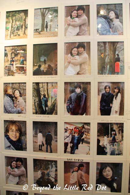 There are plenty of photos of the stars of Winter Sonata everywhere.