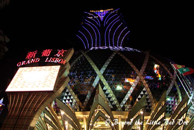 The Grand Lisboa casino and hotel. This is the jewel of Asia's casino tycoon, Stanley Ho.