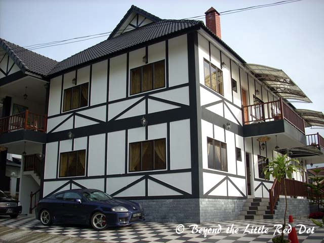 One of the English styled apartments that are available for short stays.