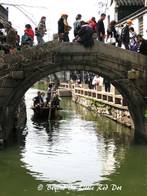 There are several stone bridges crossing the canals. They are from ancient times and remain until this day.
