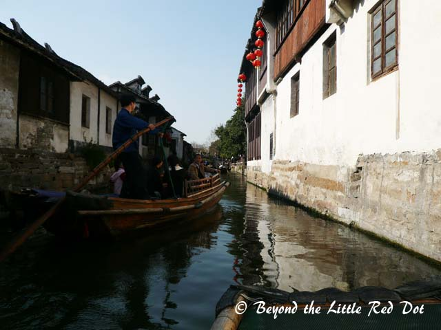 A slow boat ride is just nice to enjoy the village scenes without jostling with the tourist crowds.