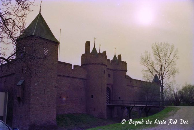 The main castle of Doornenburg. It was destroyed during WW2 but rebuilt to it's original state.
