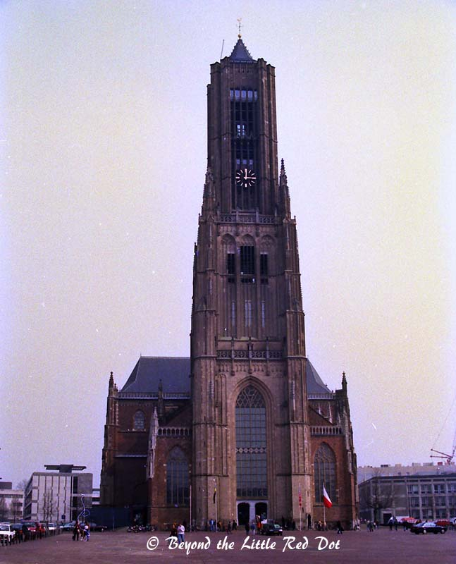 The most prominent building in Arnhem. It used to be a church but is used a museum of sorts and observatory tower.