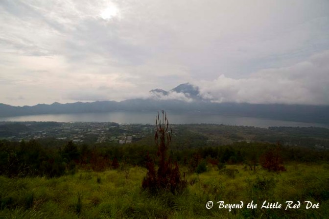 The route down revealed a wonderful scenery of the cauldera and Lake Batur.