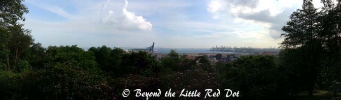 A good view of the southern coast from Kent Ridge.
