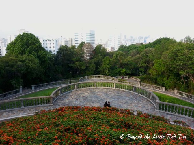 From the summit of Telok Blangah Hill, it's a short descent through well manicured parks.