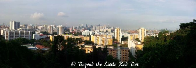 As you climb up Mt. Faber, you can see the HDB blocks of Telok Blangah estate.