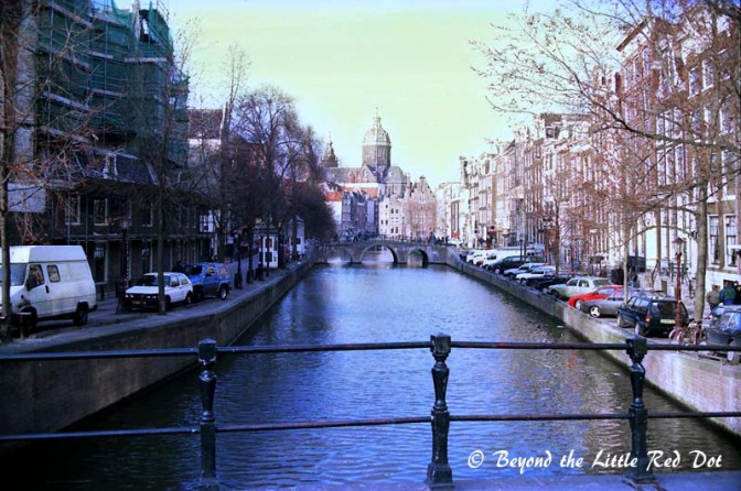 Classic Amsterdam streets and canals.