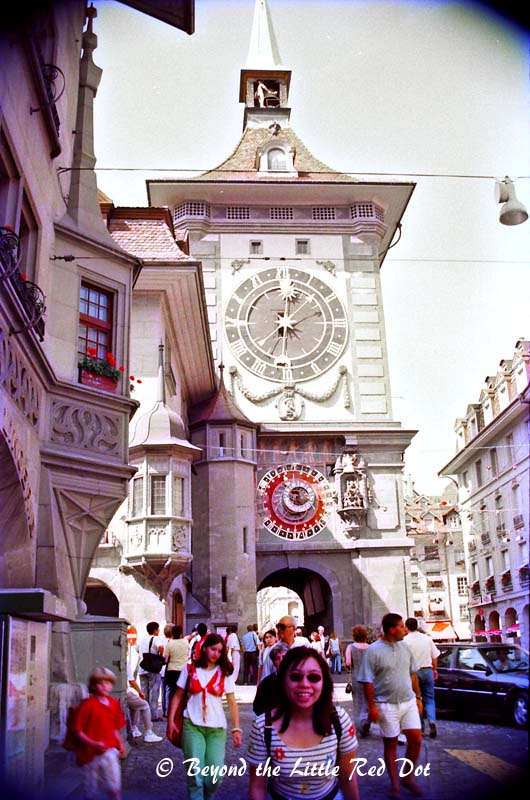 The famous sight in Bern is the Zytglogge, or translated into english is 'Time Bell'.