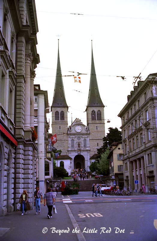 The Hofkirche.