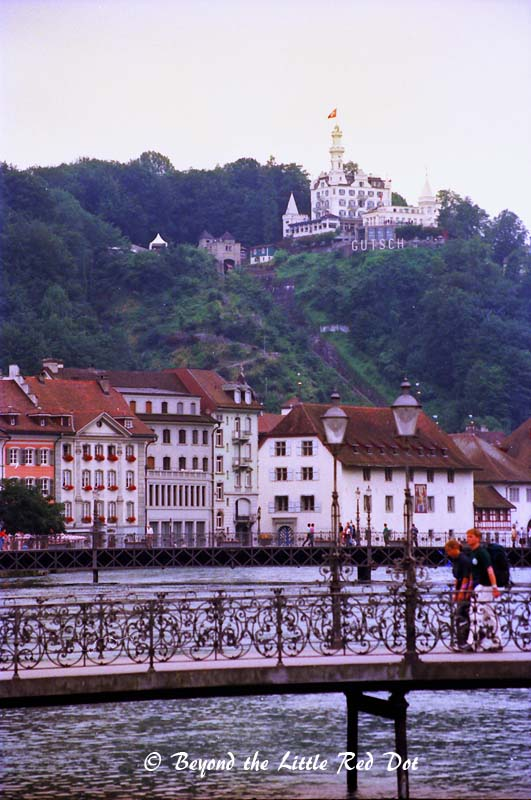 If you see the castle overlooking Lucerne, that's actually a hotel.