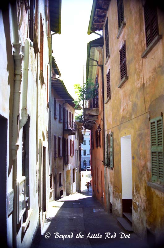 The old narrow streets of Lorcano's Old Town.