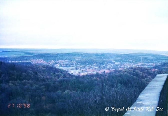 Overlooking the town of Eisenach from Wartburg Castle.