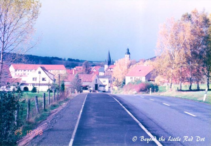That's Marksuhl village center and where my inn was. Exciting isn't it?